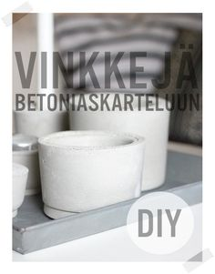 Diy Home : Illustration Description Concrete Concrete Crafts, Concrete Projects, Diy Projects, Concrete Bowl, Cement Art, Beton Diy, Inspirations Magazine, Design Your Life, Diy Wedding