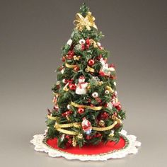 Miniature Christmas Tree, Traditional by Miniature Christmas Trees, Mini Christmas Tree, Christmas Holidays, Christmas Decorations, Holiday Decor, Miniature Trees, Christmas Ideas, My Doll House, Doll Houses