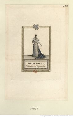Madame Royale, Duchesse d'Angoulême : [estampe]