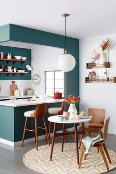 Amenagement Cuisine, Petit Espace, Cuisines Colorées, Belles Cuisines,  Cuisines Deco, Meuble