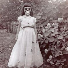 Vintage skeleton girl.