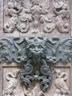 Knocker in Rouen Door Knobs And Knockers, Hardware Pulls, Door Detail, Rouen, Door Furniture, Taps, Shower Heads, Door Handles, Carving