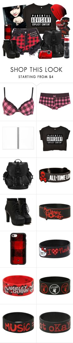 """Untitled #492"" by neverland-is-just-a-dream-away ❤ liked on Polyvore featuring Muji, Givenchy, Hot Topic, Casetify and Hello Kitty"