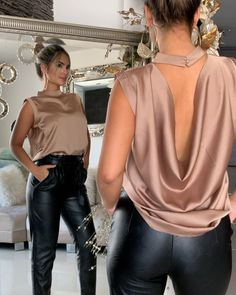 Swans Style is the top online fashion store for women. Shop sexy club dresses, jeans, shoes, bodysuits, skirts and more. Blouse Styles, Blouse Designs, Classy Outfits, Chic Outfits, Look Fashion, Womens Fashion, Fashion Trends, Daily Fashion, Fashion Ideas