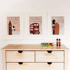 set of three london nursery art prints by helena tyce designs | notonthehighstreet.com