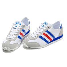 Adidas shoes - Adidas Men's/Women's Originals 1609ER Running shoes G19741 (White/Gray/Blue/Red)