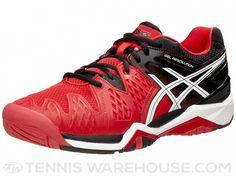 Asics Gel Resolution 6 Red/Black/White Men's Shoes