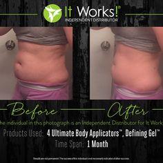 Tighten, tone and firm your body!  www.burina.myitworks.com  #itworks #bodywraps