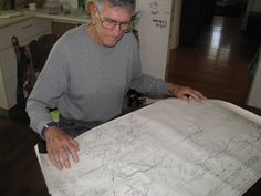 Lost lines: Stan Geise examines the Hunter railways map. Photo by Mike Scalon Local History, News Online, Lost, Map, Location Map, Maps
