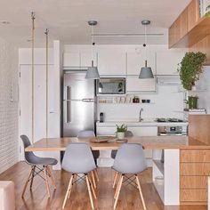 Cozinhas #ApartamentoPequenoIdeias