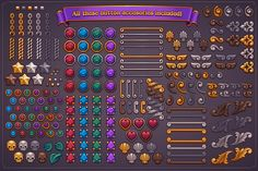 Fantasy Game Button Maker - Graphics - 12