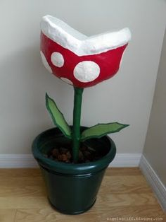 Super Mario Brothers Flowers...decorations for a Mario Party!