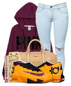 """""""315"""" by tuhlayjuh ❤ liked on Polyvore featuring Victoria's Secret PINK, Pistola, Gucci, Citizen and Urban Decay"""