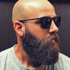 Bald Men With Beards, Bald With Beard, Great Beards, Long Beards, Beard Love, Awesome Beards, Popular Beard Styles, Long Beard Styles, Hair And Beard Styles