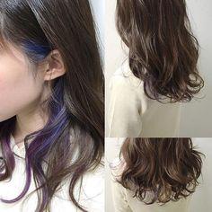 Underdye Hair, Dye My Hair, Hair Day, Purple Hair, Ombre Hair, Peekaboo Hair, Underlights Hair, Hair Color Streaks, Aesthetic Hair