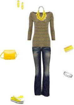 """casual (yellow)"" by daisylwinn on Polyvore"