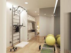 Гимнастическая комната (do ARCHIForma)