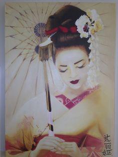 Memorias de una Geisha, al óleo