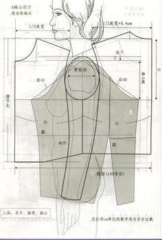图解袖山高设计 Graphic design sleeve heights #sewing #patternmaking
