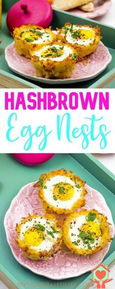 Hash Brown Egg Nests | Easy Breakfast Recipe | Whole 30 Breakfast | Gluten Free Breakfast | Clean Easting Breakfast | Quick Breakfast Recipe | Healthy Breakfast Recipe | via @myhomebasedlife