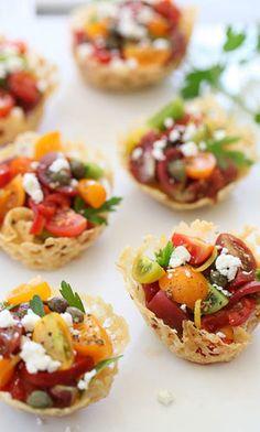 Heirloom tomato bites #partyfood