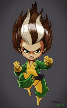 "Digital painting / Character design : Wip - 02 - Clean Malicia Kid ""chibi""…"