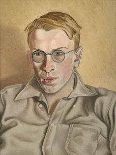 """New Zealand painter Rita Angus - Portrait of """"Quentin Angus"""" 1944 Rockwell Kent, Female Painters, New Zealand Art, Nz Art, Portrait Art, Male Portraits, Portrait Inspiration, Illustration Art, Stanley Spencer"""