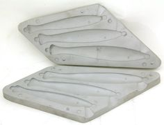 FISH SHAPED PIRK LEAD SINKER MOULD 310g 430g 500g , Makes 3 weights weighing 310g, 430g, and 500g.... , , 19.99