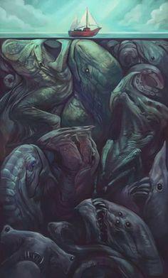 Monster under sea