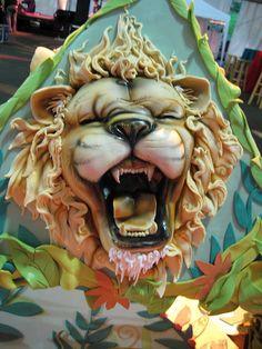 Jazzoo Lion Head Cake by Karen Portaleo/ Highland Bakery, via Flickr