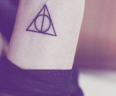 Cute deathly hallows tattoo