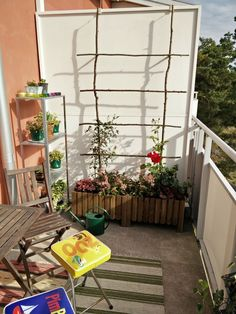 Balcony Trellis Without Harming Walls Building A Trellis, Climbing Roses, Balcony Garden, Diy Wall, Outdoor Structures, Walls, Frame, Plants, Google