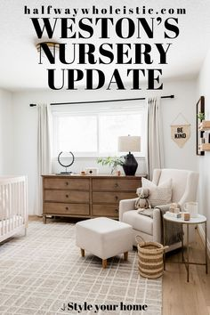 Visit here to see this nursery for a boy on Halfway Wholeistic! If you are looking for boy nursery ideas, then this is the blog post for you. Get inspired by this nursery idea with a neutral color palette. There is nothing more chic than nursery ideas that are neutral gray and white. You will love this baby boy nursery room idea and themed color scheme. Be sure to buy neutral paint colors for a gender neutral nursery decor that is also calming for the baby. #nursery #home #decor Nursery Room, Nursery Ideas, Kids Bedroom, Nursery Decor, Neutral Nursery Colors, Neutral Paint Colors, Office Space Design, Home Office Space, White Home Decor