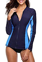 Looking for Sociala Women's Zip Front Long Sleeve Rash Guard Top Sun Protection Swim Shirt ? Check out our picks for the Sociala Women's Zip Front Long Sleeve Rash Guard Top Sun Protection Swim Shirt from the popular stores - all in one. Rashguard Swimsuit Women, Swimsuit Tops, Swim Shirts For Women, Uv Shirt, Rash Guard Swimwear, Rash Guard Women, Women Swimsuits, Sun Protection, Long Sleeve