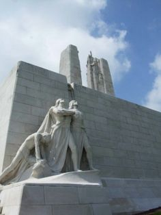 The Canadian war memorial at Vimy. Incredibly emotional experience to see this. The sculptures exude such grief. The land surrounding it is still deeply cratered even after almost a century later. Roi George, Sculptures, Lion Sculpture, Canadian History, Historical Monuments, Lest We Forget, World War One, Military History, Armed Forces