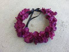 Purple Floral Headband/ Flower Crown. Coachella or by DevineBlooms