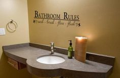 Bathroom decal-Quote decal-Bathroom decor-Quote sticker-Vinyl wall decal-8 X 28 inches