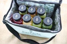 Selection of #PureNectarJuice Bottles in a special bag