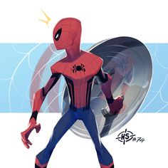 Animation , Movies and more ! All Spiderman, Spiderman Kunst, Amazing Spiderman, Spiderman Poses, Comic Book Artists, Comic Books Art, Comic Art, Marvel Art, Marvel Heroes
