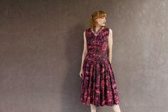 Vintage 1950's Dress PINK & Black Dropwaist by moonchildvintagehttps://www.etsy.com/listing/164014658/vintage-1950s-dress-pink-black-dropwaist?ref=shop_home_active