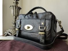 Mulberry Alexa Postmans Lock Camera Bag in Black Buffalo Leather - SOLD 6a2845d48fe4e