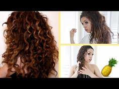 ▶ Pineapple Hair Trick!!! Curly Hair Routine ♡ - YouTube
