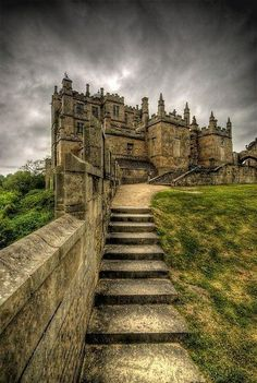 Amazing Snaps: Derbyshire, England. The destination of Green. Bolsover Castle founded in the 12th century by the Peverel family. This was located in Bolsover, Derbyshire, England.