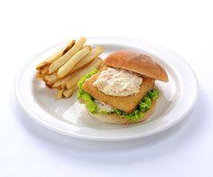 Fish Cutlet Sandwich with Yuzu Sauce