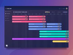 Great work from a designer in the Dribbble community; App Ui Design, Dashboard Design, Chart Design, User Interface Design, Layout Design, Flow Design, Gantt Chart Templates, Marketing Calendar, Ui Web