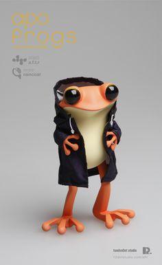 apo frogs : version raincoat by Hyunseung Rim, via Behance #cute