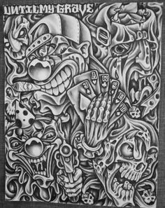 Incarcerated art. Graphite pencil on paper by Jawser.