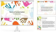 Hand Prints PowerPoint Template Power Points, Powerpoint Animation, Hd Wallpapers For Mobile, Company Names, Infographic, Presentation, Hand Prints, Chart, Templates
