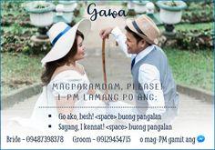 Wedding Wishes, Our Wedding, Dream Wedding, Wedding Ideas, Filipiniana Wedding Theme, Wedding Invitations Diy Handmade, Rsvp Wording, Filipino Wedding, Tagalog