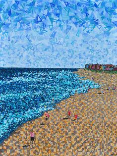 """This artist astounds me. (Micah Mullen, Kure Beach: A View from the Pier - 40x30"""" Acrylic on Canvas)"""